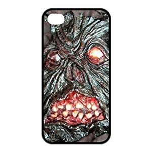 iPhone 4/4S Case, Evil Necronomicon Hard TPU Rubber Snap-on Case for iPhone 4 / 4S