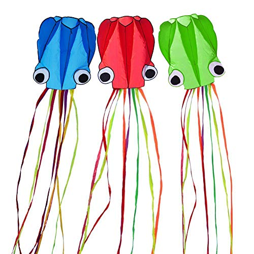Milky House 3 Pack Octopus Kite, 3D Kite Long Tail for sale  Delivered anywhere in USA