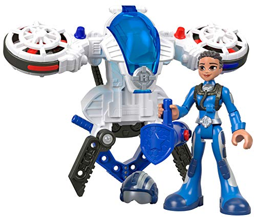 Fisher-Price Rescue Heroes Sky Justice & Hover Pack, Figure & Accessories Set