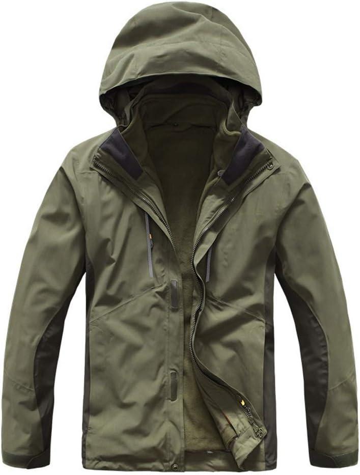 スキーウェア 人の風邪の湿気および雪のための抵抗力がある屋外のジャケットのスノーボードのジャケット 理想的なスキー服 (色 : アーミーグリーン, サイズ : S) アーミーグリーン Small