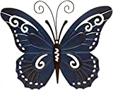 Giftcraft 4 Pc Metal Butterfly Shaped Metal Outdoor Wall Decor in Red, Yellow, Green and Blue