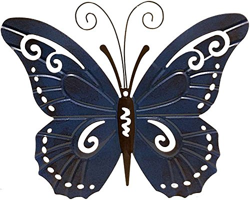 Giftcraft 4 Pc Metal Butterfly Shaped Metal Outdoor Wall Decor in Red, Yellow, Green and Blue by Gift Craft