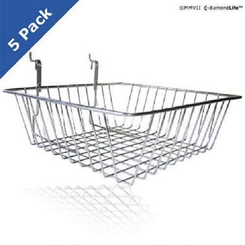 SlatWall / PegBoard Baskets - 5 pk. by Unknown