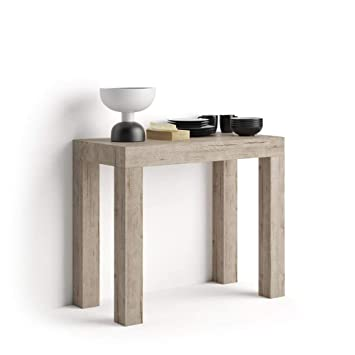 Mobili Fiver Extendable Console Table First Oak 90 X 45 X 76 Cm Made In Italy