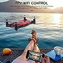 T49 6軸WIFI FPV 720P HDカメラドローン折りたたみ式GセンサーRCミニSelfieドローンヘッドレスモードクアドコプターのおもちゃ(色:赤)