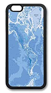 iPhone 6 Plus Cases, Mercator Map World Durable Soft Slim TPU Case Cover for iPhone 6 Plus 5.5 inch Screen (Does NOT fit iPhone 5 5S 5C 4 4s or iPhone 6 4.7 inch screen) - TPU Black