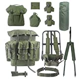 AKmax Large Alice Packs One Set with Frame and Accessories 14PCS Olive Green