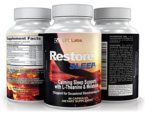LFI Restore Sleep L Theanine Melatonin