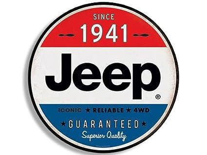 American vinyl round vintage jeep since 1941 sticker wrangler logo old rat rod