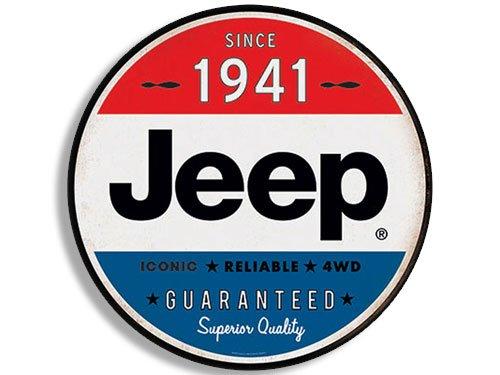Round Vintage JEEP Since 1941 Sticker (wrangler logo old rat rod)
