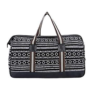 OneMoreT - Bolsa de viaje de lona para mujer, diseño étnico ...
