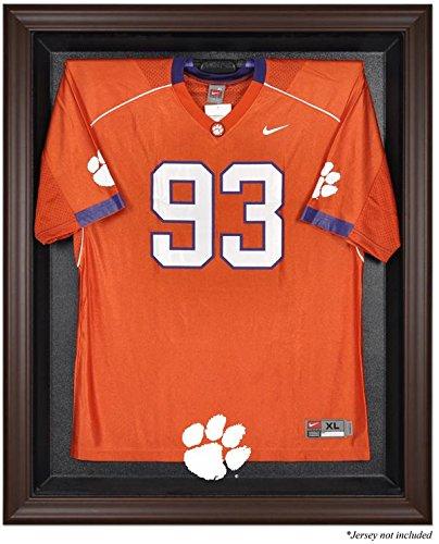 Clemson Tigers Brown Framed Logo Jersey Display Case