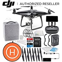 DJI Phantom 4 PRO+ PLUS Obsidian Edition Drone Quadcopter Includes Display (Black) Starters Landing Pad Bundle
