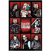 """Trends International Suicide Squad Grid Wall Poster 22.375"""" x 34"""""""