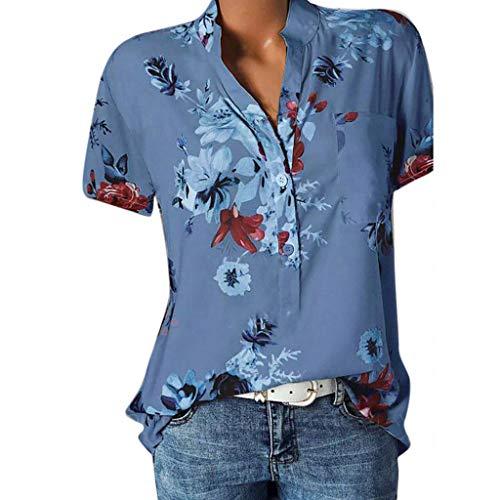 Adeliber Tank Tops for Women Women's Soft Jersey Knit Scoop Neck Sleeveless Loose Tank Top Blue