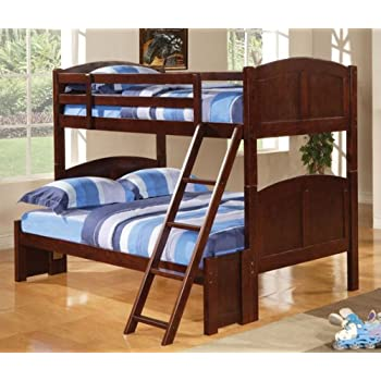 Amazon Com Coaster 460222 Coral Twin Over Full Bunk Bed