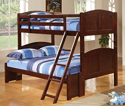 Coaster 460212 CO Parker Twin Over Full Panel Bunk Loft Bed Dark Cherry,  Dark