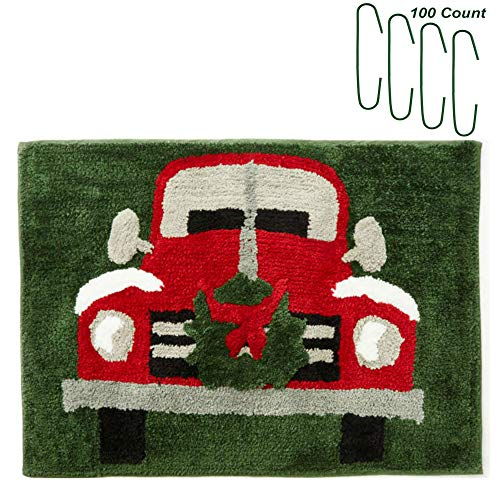 Christmas Retro Truck Bath Rug 20