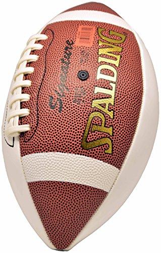 Spalding NFL 3 White Panel Autograph Football ()