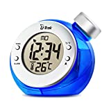 U-Trak Water Powered Clock Digital Clock with Alarm Time Date 12/24 Hours ℃/℉ Temperature Easy Setting No Battery Needed Environment Friendly Atomic Clock For Home Office School Bedroom Gift Blue