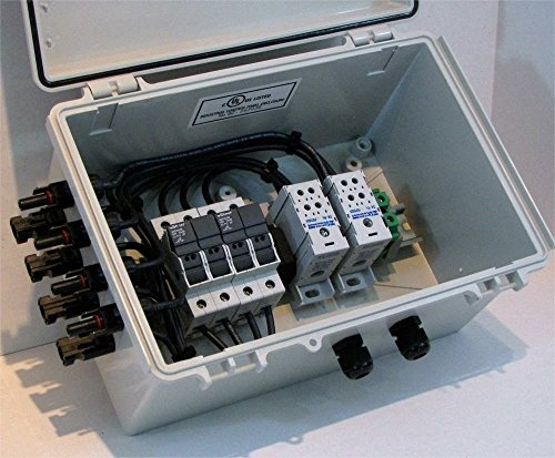 4-String Fused Pr-wired Solar Combiner Box