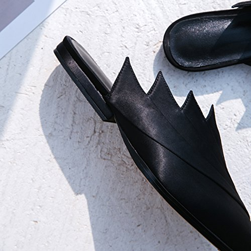 Chanclas De Prima Modelado black Sandalias Sandalias L1203 WSXY Transpirable Planas Mejorar Satinada De Y Tela Moda Creativo De Mujer KJJDE AUqwnS