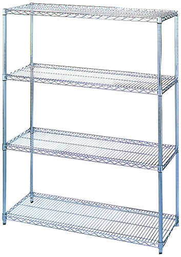 Wesco Industrial Products 272719 Chrome Plated Wire Shelving Starter Unit, 2000 Pound Capacity, 72
