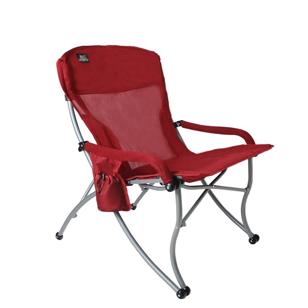 Y HWZDY camping klappstuhl Klappstuhl im Freien, Fischen-Freizeit-Stuhl, Breathable fester beweglicher Strand-Stuhl,