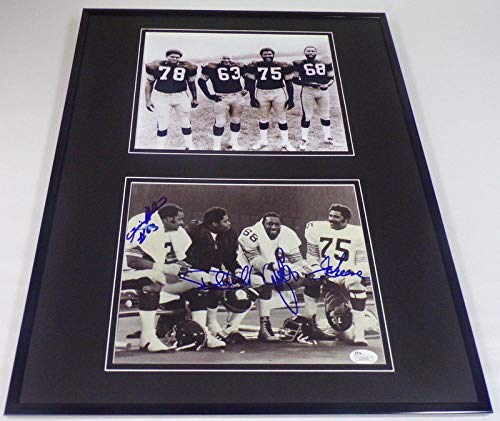Steel Curtain Signed Framed 16x20 Photo Set JSA Greene Greenwood Holmes ()