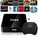 2017 New Arrivals M9S Android 6.0 Mini TV BOX S905X Quad-Core H.265 4K Smart Mini Pc Streaming Media Player (M9S BOX+MIini Keyboard)