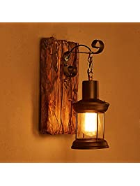 Wall sconces amazon lighting ceiling fans wall lights lightinthebox single head industrial vintage retro wooden metal painting color wall lamp for the home aloadofball Gallery