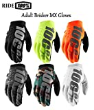NEW 2019 RIDE 100% BRISKER MOTORBIKE ADULT MX GLOVES Motocross Sports Racing Trials Enduro Quad PIT Kart Dirt Bike ATV MTB Off Road Adult Cold Weather Gloves (Camo Black,L)