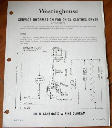 (DH-3L Clothes Dryer (Style Q-28901) Westinghouse Service)
