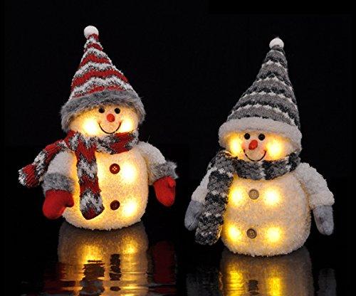 2x Großer Schneemann mit Beleuchtung LED Weihnachtsdekoration Weihnachten Schneemänner