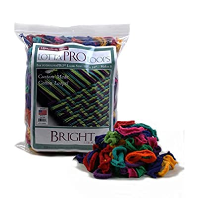 """Harrisville 10"""" Pro Bright Lotta Loops in Assorted Colors - Makes 8 Potholders by Harrisville Designs Toys"""