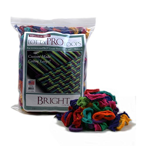 "(Harrisville 10"" Pro Bright Lotta Loops in Assorted Colors – Makes 8 Potholders)"