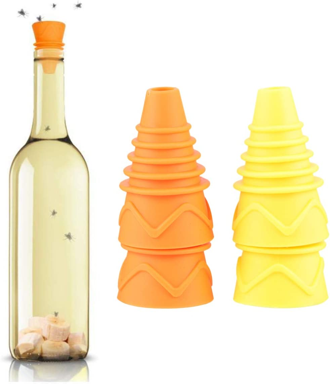 Yardwe 4 St/ücke Fliegenfalle Silikon Flasche Trichter Fruchtfliegenfalle Stuben Fliegenf/änger Insektenfalle M/ückenfalle Insektenvernichter K/äfig f/ür K/üche Restaurant