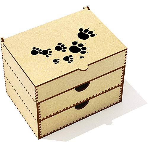 (Azeeda 'Paw Prints' Vanity Case / Makeup Box (VC00000310))