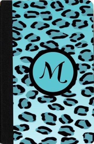 Amazon Com Rikki Knight Letter M Sky Blue Leopard Print
