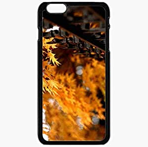 Unique Design Fashion Protective Back Cover For iPhone 6 Plus Case Slim (5.5 inch) Autumn Leaves Photography 5697 Nature Black