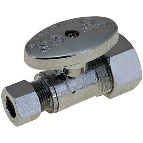 Brasscraft KTCR14X C Str Stop 1/4 Turn 1/2 Comp X 3/8 OD Lead Free by BARNETT SUPPLY ()