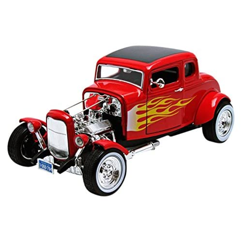 Motormax 73172r_flames/79993 - Ford - Hot Rod Coupe - 1932 - Échelle 1/18