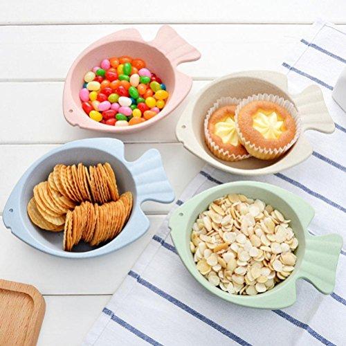 Nacome Kids Snack Bowls,Creative Cartoon Fish Bowl,Great Gift for Baby Showers, Birthdays & Preschool Graduations,Coastal (Blue)