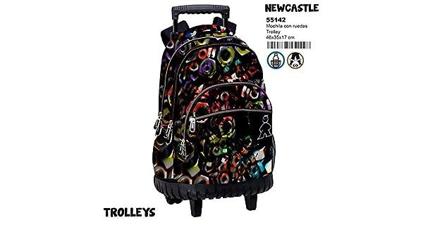 Amazon.com | Montichelvo Trolley Cmp Newcastle Travel Tote, 46 cm, Multicolour | Travel Totes