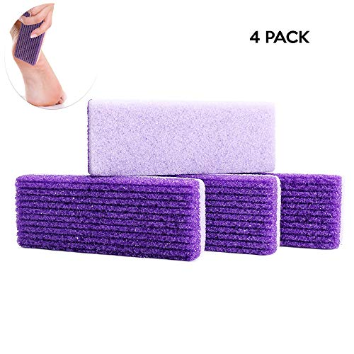 File Pack Foot (Wisdom Pumice Stone for Feet 2 in 1 Callus Remover File Scrubber for Hands and Body Pack of 4)