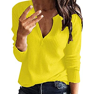 Weginte Womens Shirts and Blouses Short Sleeve Henley Button up Pullover Casual Loose Solid Color Sweatshirt Tunic Tee Top at  Women's Clothing store