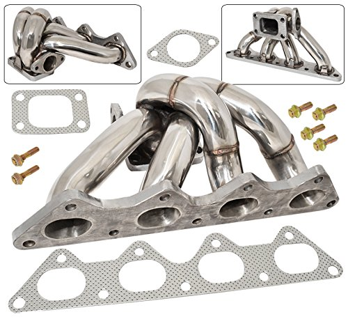 Ajp Distributors 1G 2G 4G63 Turbo Manifold Stainless Steel With Wastegate Flange For Eclipse Talon Laser Evolution