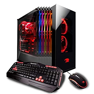 iBUYPOWER Gaming Desktop PC AM042i Intel i7-8700k 6-Core 3.7 GHz, NVIDIA Geforce RTX 2080 8GB, 16GB RAM, 1TB HDD, 240GB SSD, 802.11AC WiFi, Win 10, RGB Case, VR Ready