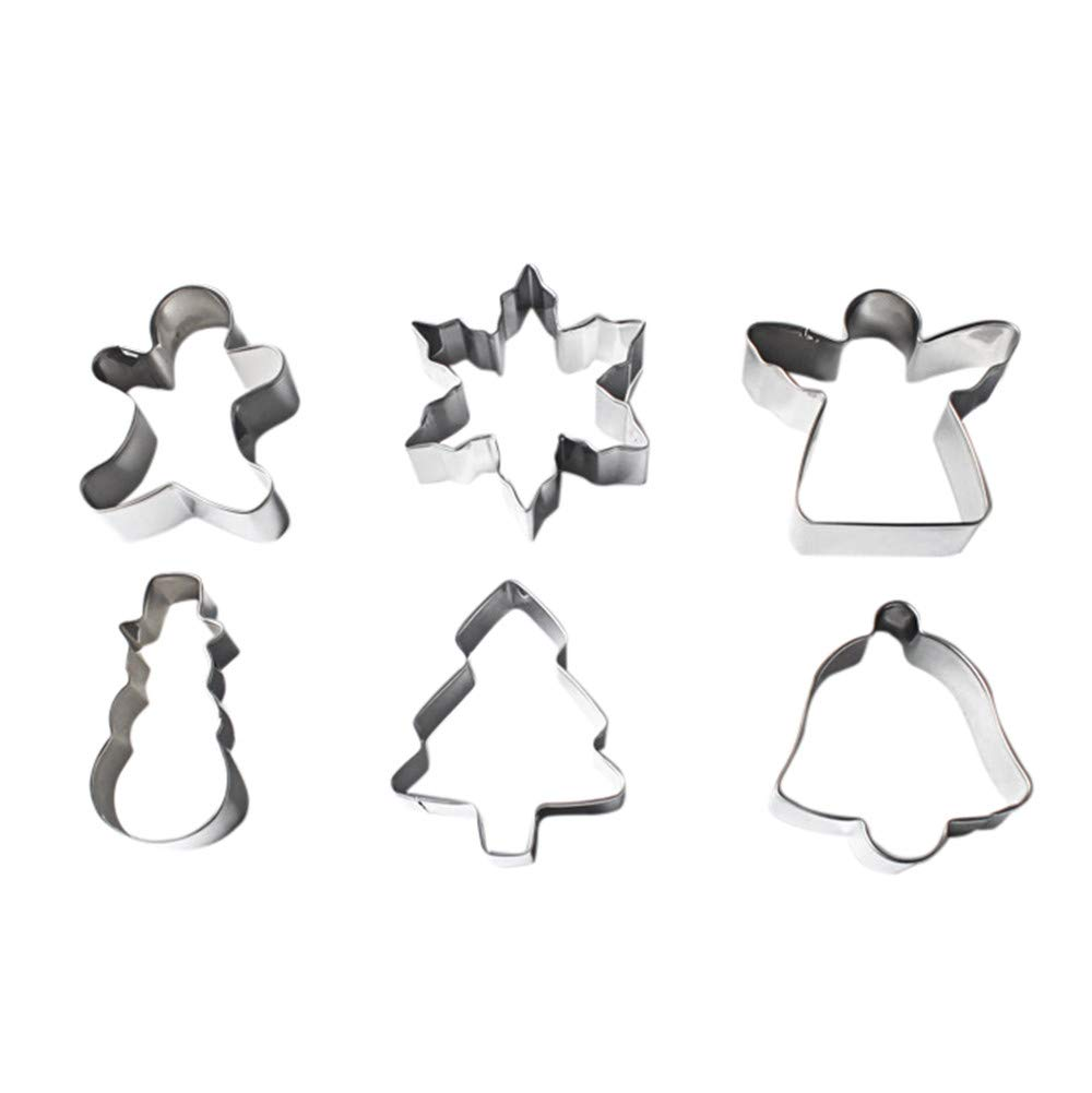 Amazon.com: Gessppo Christmas 1 Set Stainless Steel Cake Biscuit Cookie Cutter Mold DIY Baking Pastry Mould Tool: Kitchen & Dining