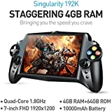 JXD S192K 7 inch 1920X1200 Quad Core 4G+64GB New Handheld Game Player 10000mAh Android 5.1 Bluetooth 4.0 Tablet PC Video Game Console button maping Andriod PC Games 18 simulators Games (Black)